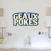 3 ft x 3 ft Fan WallSkinz-Geaux Pokes Stacked