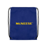 Royal Drawstring Backpack-McNeese