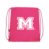 Pink Drawstring Backpack-M
