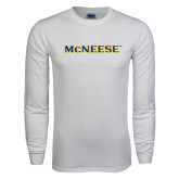 White Long Sleeve T Shirt-McNeese