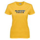 Ladies Gold T Shirt-Track