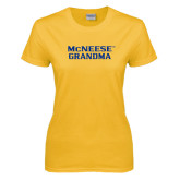 Ladies Gold T Shirt-Grandma