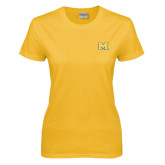 Ladies Gold T Shirt-M