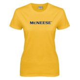 Ladies Gold T Shirt-McNeese