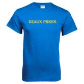 Royal T Shirt-Geaux Pokes Flat