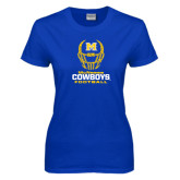 Ladies Royal T Shirt-Football Helmet Design