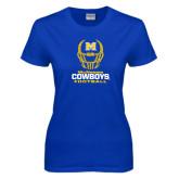 Ladies Royal T Shirt-Football Helmet Design