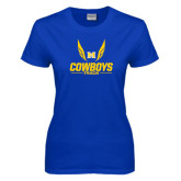 Ladies Royal T Shirt-Track Wings Design