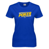Ladies Royal T Shirt-Pokes Fancy Lines Design