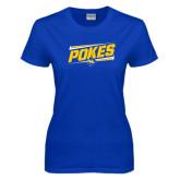 Ladies Royal T Shirt-Pokes Fancy Lines Design