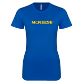 Next Level Ladies SoftStyle Junior Fitted Royal Tee-McNeese