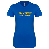 Next Level Ladies SoftStyle Junior Fitted Royal Tee-Softball