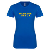 Next Level Ladies SoftStyle Junior Fitted Royal Tee-Track