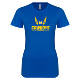Next Level Ladies SoftStyle Junior Fitted Royal Tee-Track Wings Design