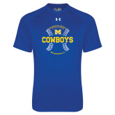 Under Armour Royal Tech Tee-Baseball Seams Design
