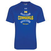 Under Armour Royal Tech Tee-Softball Seams Design