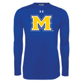 Under Armour Royal Long Sleeve Tech Tee-M
