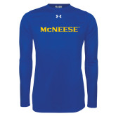 Under Armour Royal Long Sleeve Tech Tee-McNeese