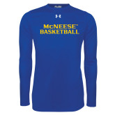 Under Armour Royal Long Sleeve Tech Tee-Basketball