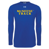 Under Armour Royal Long Sleeve Tech Tee-Track
