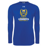 Under Armour Royal Long Sleeve Tech Tee-Football Helmet Design