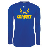 Under Armour Royal Long Sleeve Tech Tee-Track Wings Design