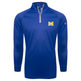 Under Armour Royal Tech 1/4 Zip Performance Shirt-M