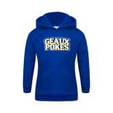 Youth Royal Fleece Hoodie-Geaux Pokes Stacked