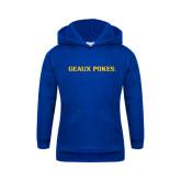 Youth Royal Fleece Hoodie-Geaux Pokes Flat