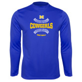 Syntrel Performance Royal Longsleeve Shirt-Softball Seams Design