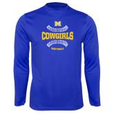 Performance Royal Longsleeve Shirt-Softball Seams Design