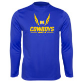 Syntrel Performance Royal Longsleeve Shirt-Track Wings Design