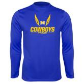 Performance Royal Longsleeve Shirt-Track Wings Design