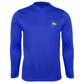 Syntrel Performance Royal Longsleeve Shirt-Primary Mark