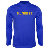 Syntrel Performance Royal Longsleeve Shirt-McNeese