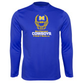 Syntrel Performance Royal Longsleeve Shirt-Football Helmet Design
