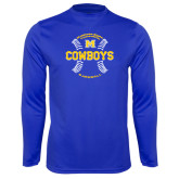 Syntrel Performance Royal Longsleeve Shirt-Baseball Seams Design