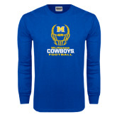 Royal Long Sleeve T Shirt-Football Helmet Design