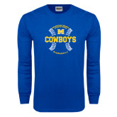 Royal Long Sleeve T Shirt-Baseball Seams Design