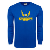 Royal Long Sleeve T Shirt-Track Wings Design