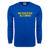 Royal Long Sleeve T Shirt-Alumni