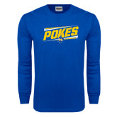 Royal Long Sleeve T Shirt-Pokes Fancy Lines Design