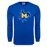 Royal Long Sleeve T Shirt-Primary Mark Distressed