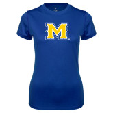 Ladies Syntrel Performance Royal Tee-M