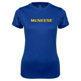 Ladies Syntrel Performance Royal Tee-McNeese
