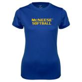 Ladies Syntrel Performance Royal Tee-Softball