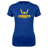 Ladies Syntrel Performance Royal Tee-Track Wings Design