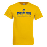 Gold T Shirt-Pokes Splatter Design