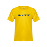 Youth Gold T Shirt-McNeese