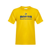 Youth Gold T Shirt-Pokes Splatter Design